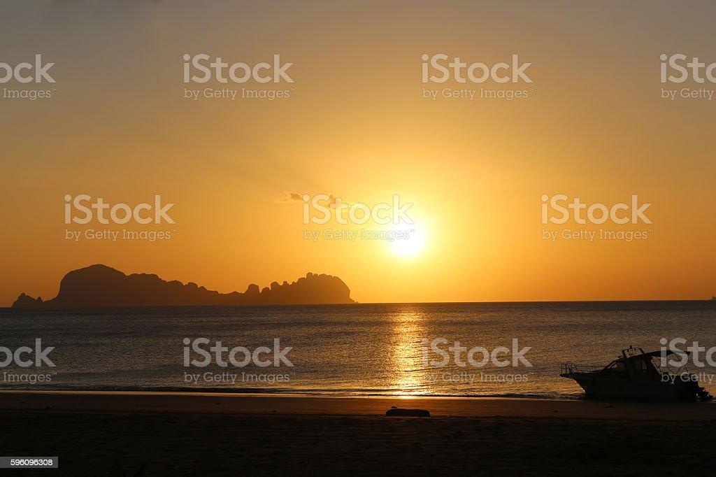 Sunset at Koh Sukorn in Trang, Thailand royalty-free stock photo
