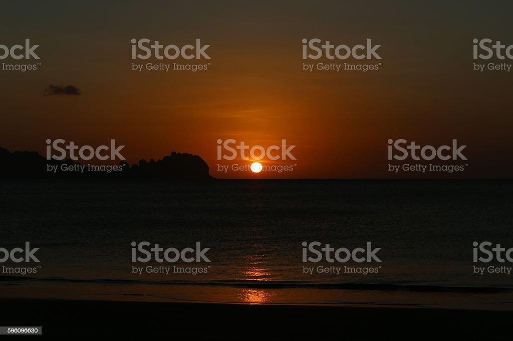 Sunset at Koh Sukorn in Trang, Thailand Lizenzfreies stock-foto