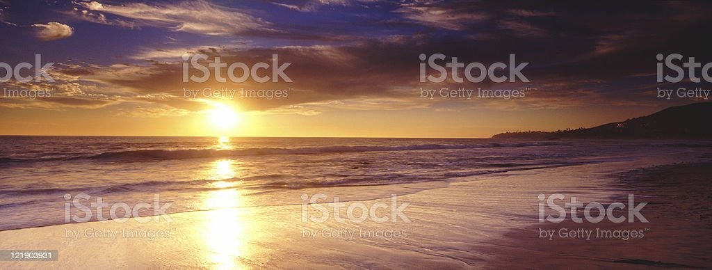 Sunset at Laguna Beach California royalty-free stock photo
