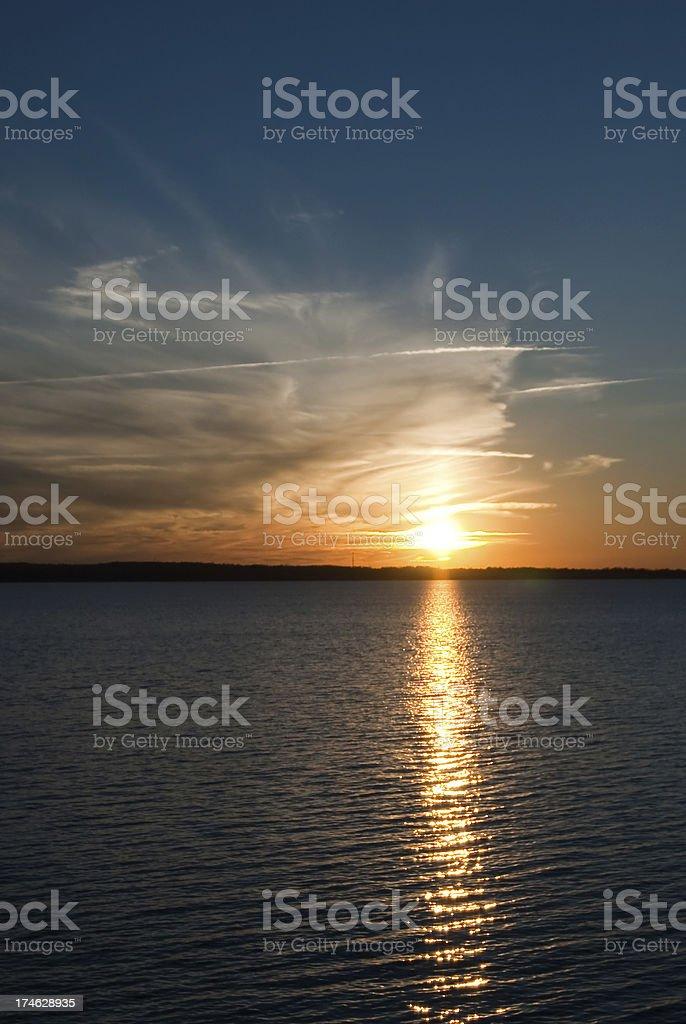 Sunset at Lake Murray royalty-free stock photo