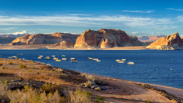Sunset at Lake Powell, Arizona. stock photo