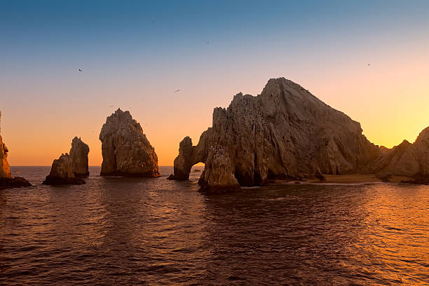 sunset at land's end, mexico - ruth stok fotoğraflar ve resimler