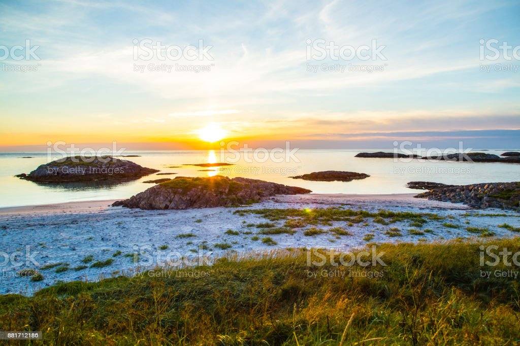 Sonnenuntergang an der Lofoten, Norwegen – Foto