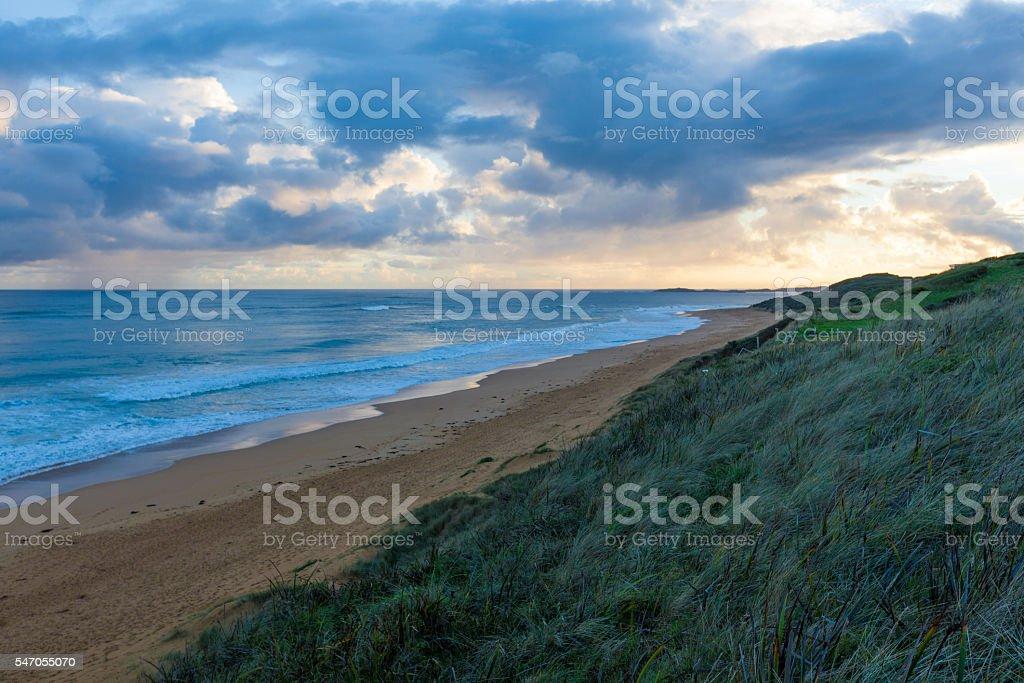 Sunset at Logans Beach, Warnambool stock photo
