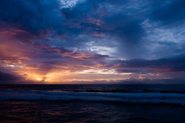 Sunset at Lombok stock photo