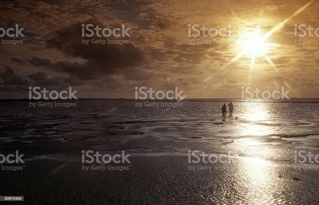Sunset at low Tide royalty-free stock photo