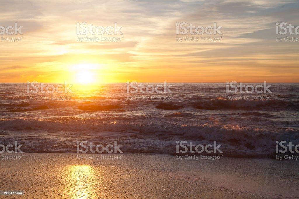 Sunset at Manhattan Beach Стоковые фото Стоковая фотография