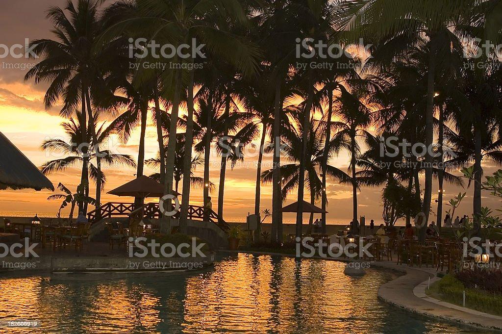 Sunset at Manila Bay stock photo