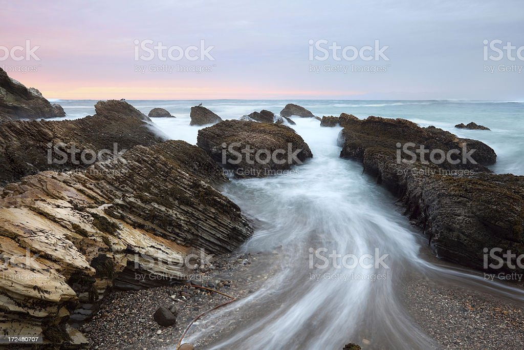 Sunset at Montana De Oro in San Luis Obispo County stock photo