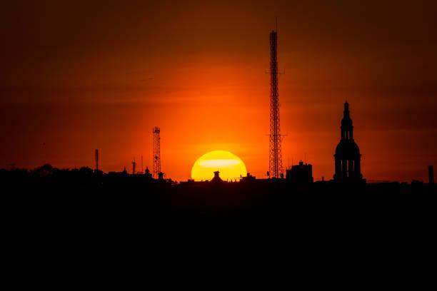 Sonnenuntergang am Monteliusvagen, Stockholm, Schweden – Foto