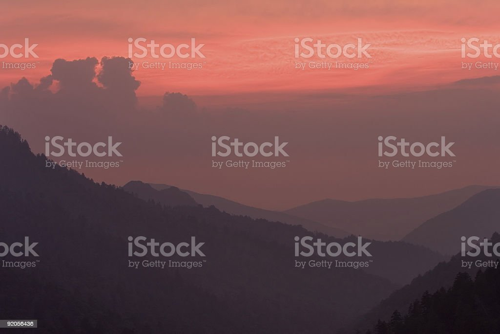 Sunset at Morton's Overlook royalty-free stock photo