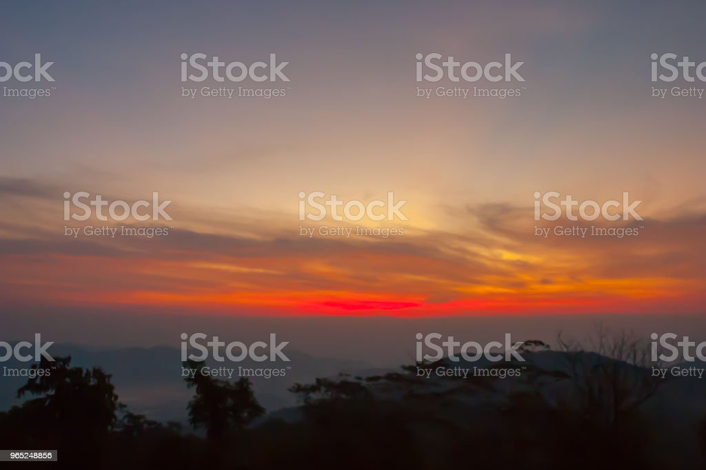 Sunset at mountain in Thailand zbiór zdjęć royalty-free
