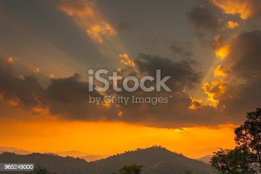 Sunset At Mountain In Thailand - Stockowe zdjęcia i więcej obrazów Bez ludzi