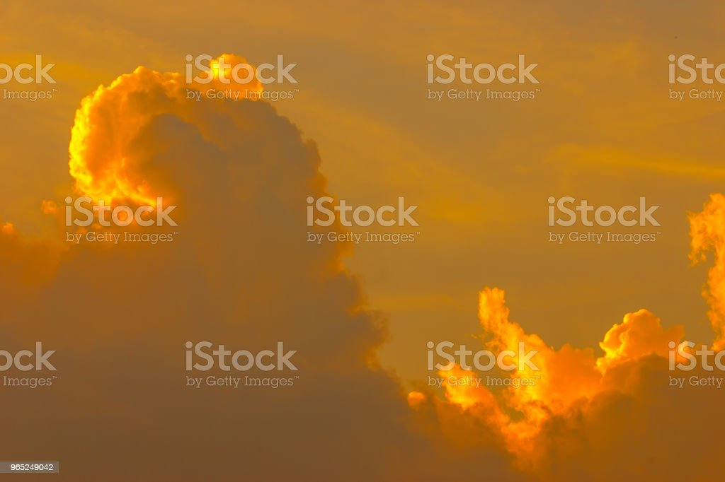 Sunset at mountain in Thailand zbiór zdjęć royalty-free