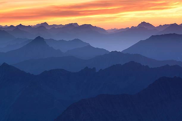 Sonnenuntergang in mt. zugspitz – Foto