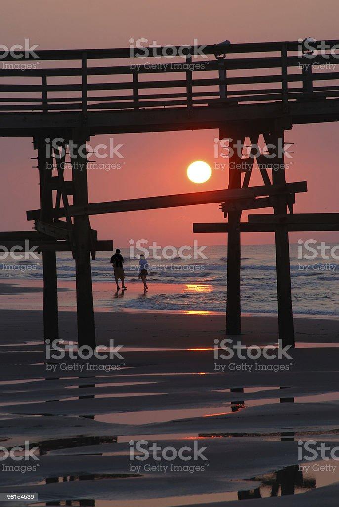 Tramonto a Myrtle Beach foto stock royalty-free