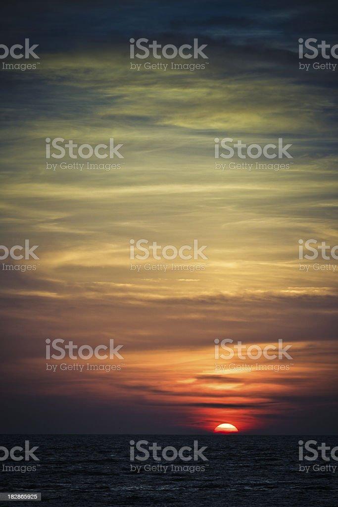 sunset at naples florida stock photo