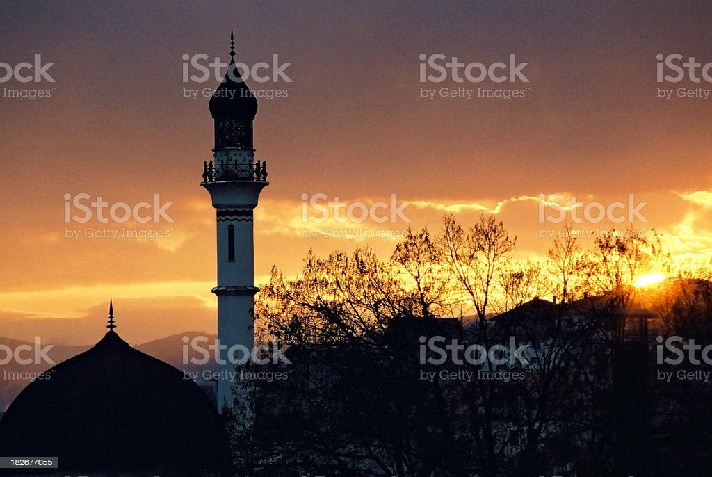 Sunset at orient royalty-free stock photo