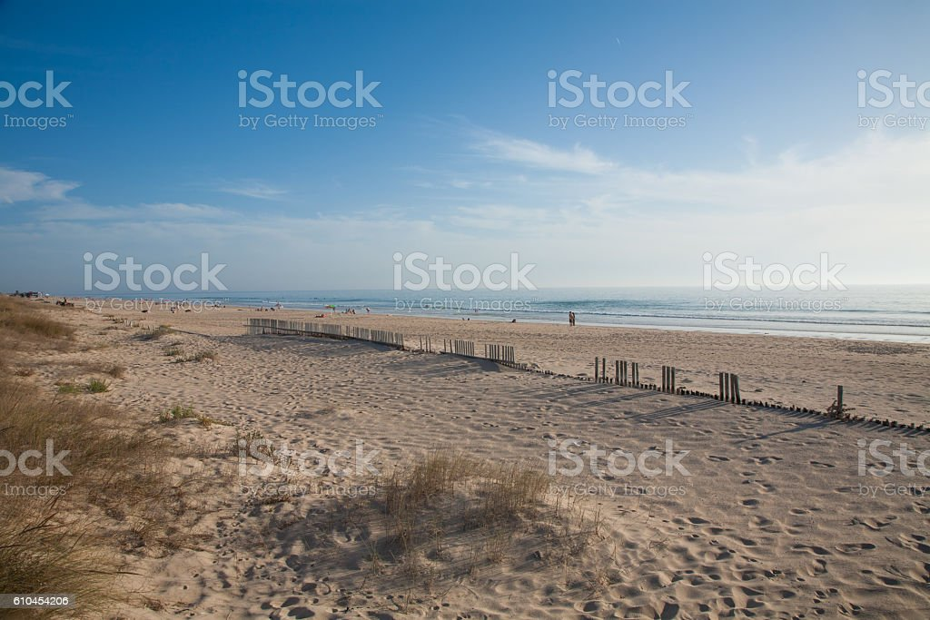 sunset at Palmar Beach stock photo
