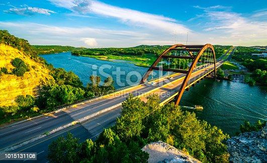 501329818istockphoto Sunset at Pennybacker Bridge 1015131108