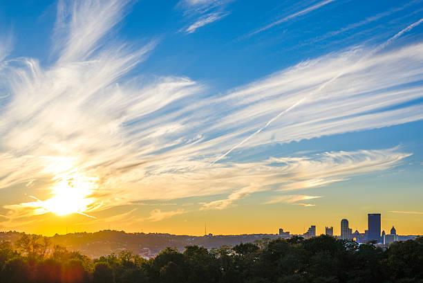 Cтоковое фото Закат в Питтсбурге