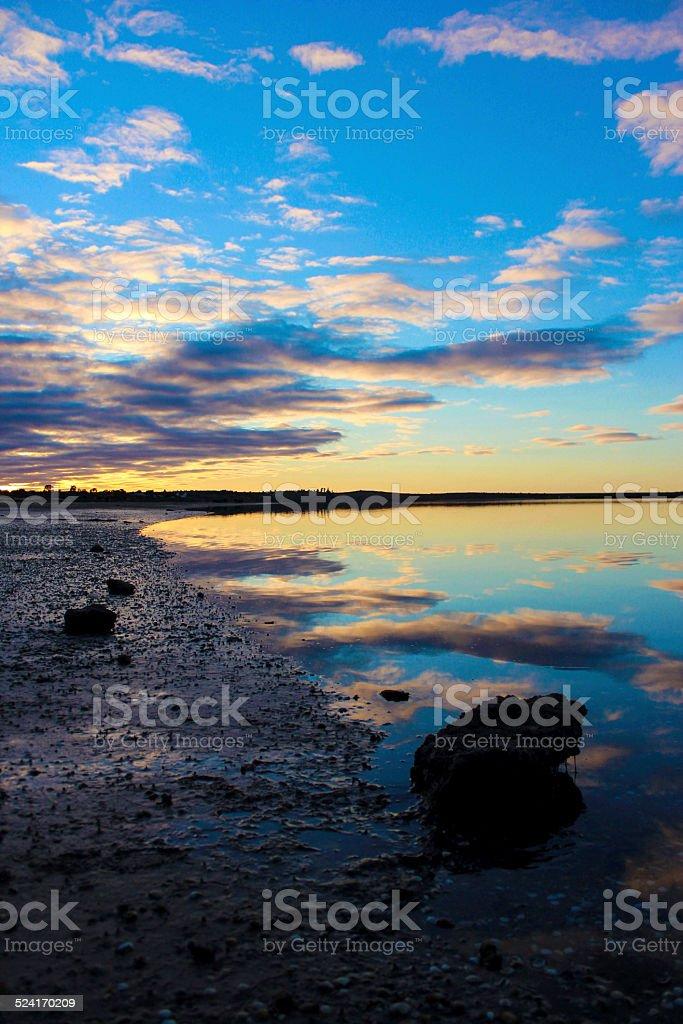 Sunset at Port Augusta stock photo