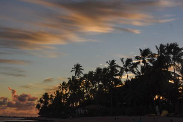 Sonnenuntergang in Praia do Forte auf Bahia, Brasilien – Foto