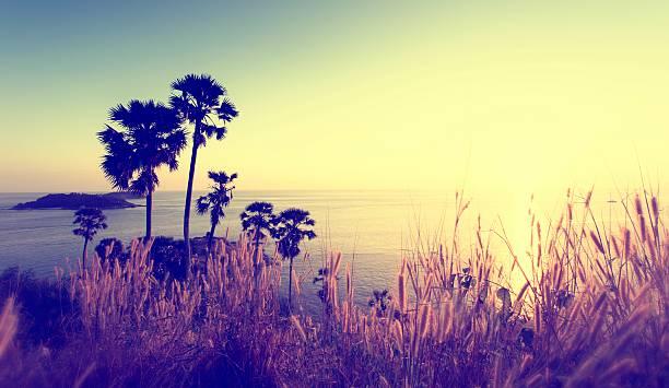 Sunset at Promthep Cape, Phuket stock photo