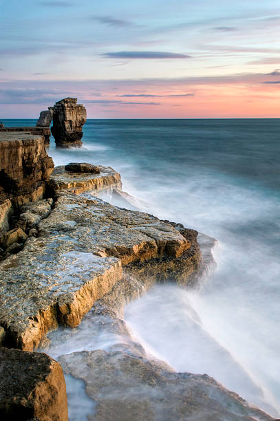 Sunset at Pulpit Rock stock photo