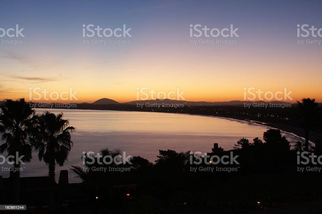 Sunset at Punta Ballena stock photo