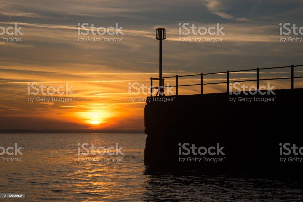 Sunset at Ramsgate stock photo