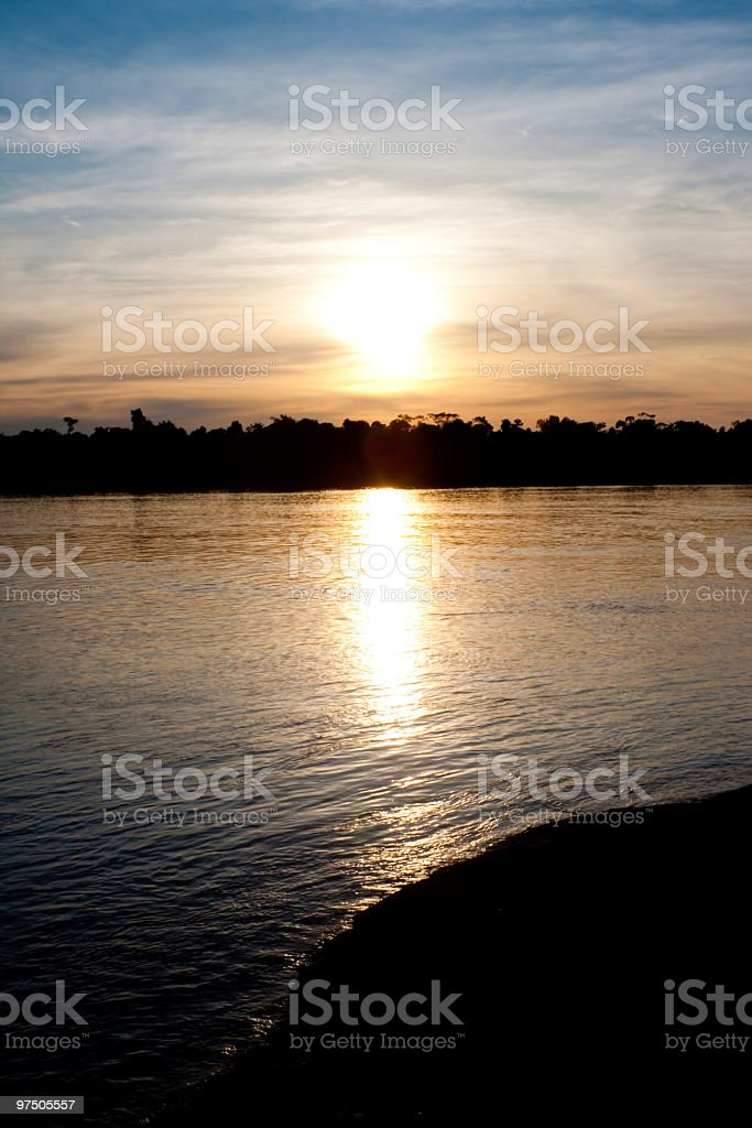 Sunset at River royalty-free stock photo