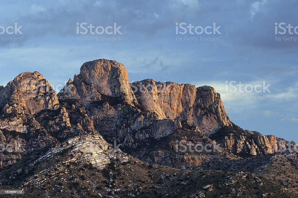 Sunset at Santa Catalina Range stock photo