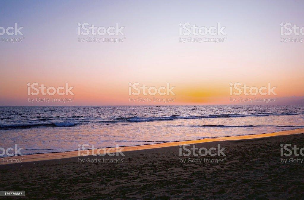 Sunset at Santa Monica royalty-free stock photo