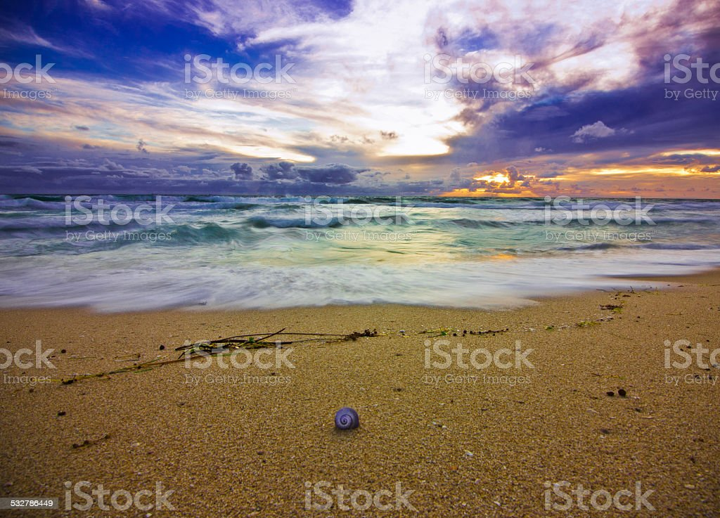 Sunset at Scarborough Beach, Western Australia stock photo