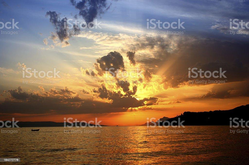 Sonnenuntergang am Meer. – Foto