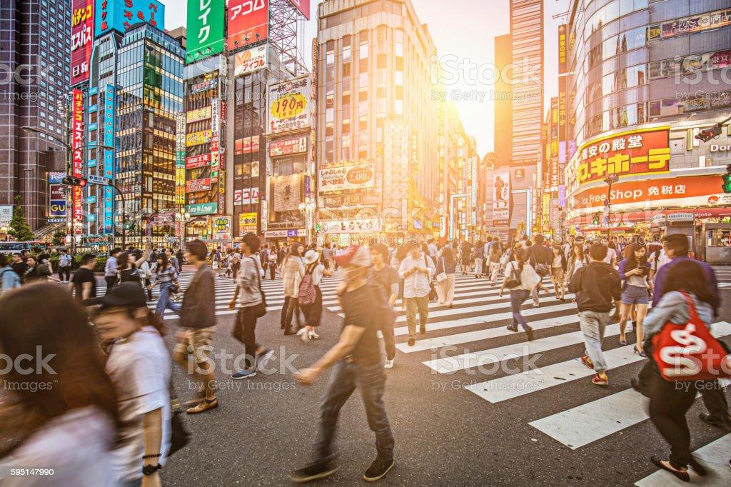 Sunset at Shinjuku stock photo