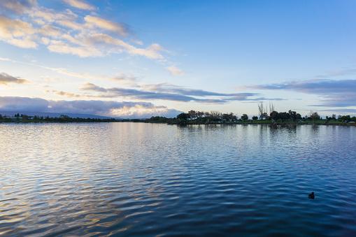 istock Sunset at Shoreline Lake Park, Mountain View, Silicon Valley, San Francisco bay, California 1092391796