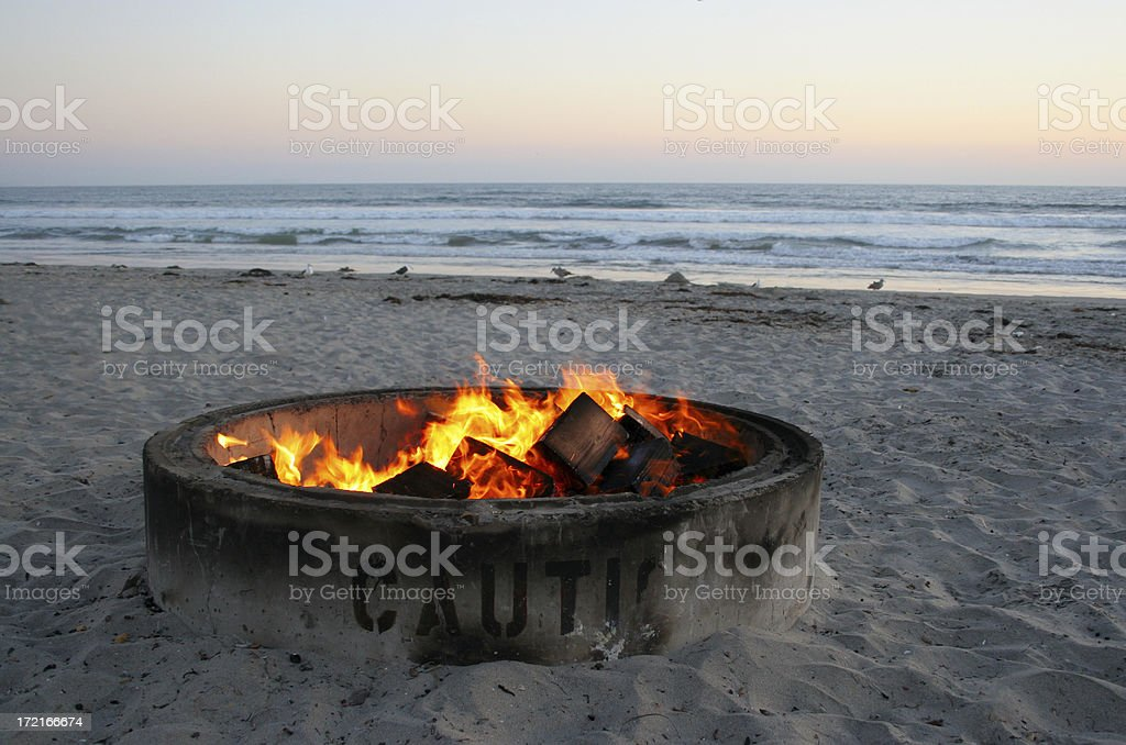 Sunset at Silver Strand State Beach stock photo