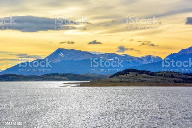 Photo of Sunset at Strait of Magellan in Chile