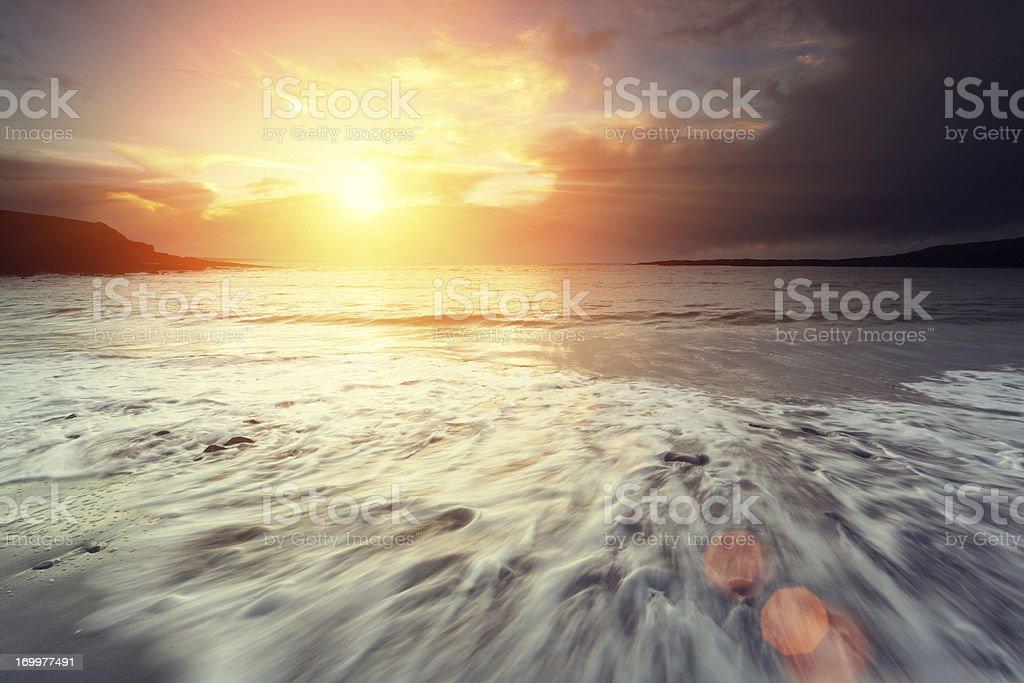 sunset at the Atlantic royalty-free stock photo