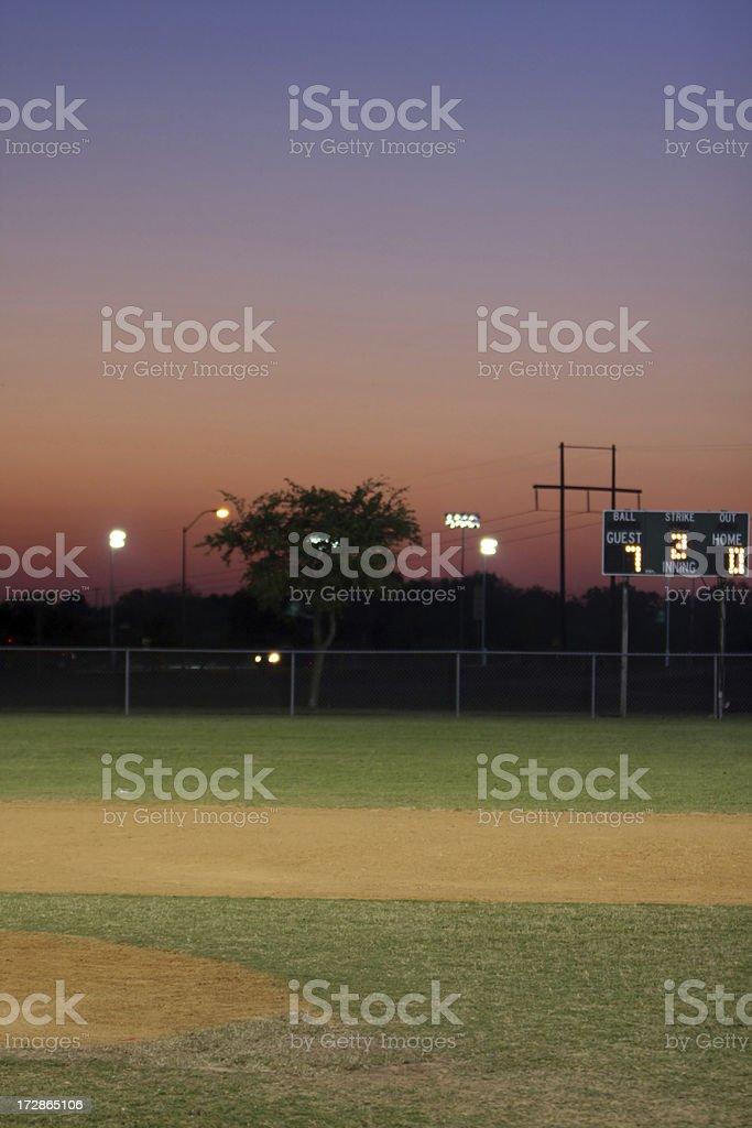 Sunset at the Ballpark royalty-free stock photo