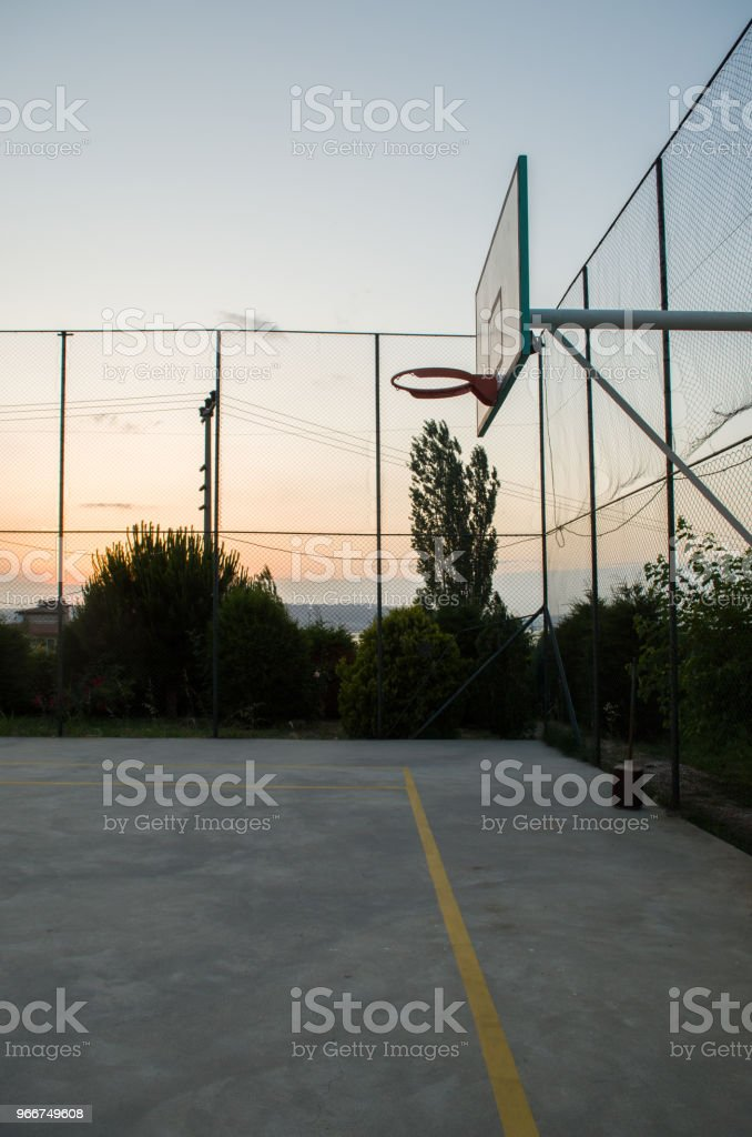 Sunset at the basketball court