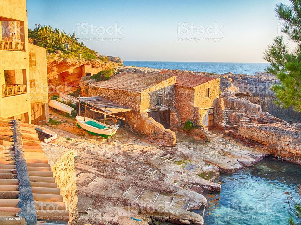 Sunset at the Beach in Majorca royalty-free stock photo