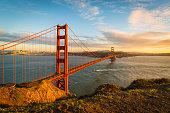 istock Sunset at the Golden Gate Bridge 965435896