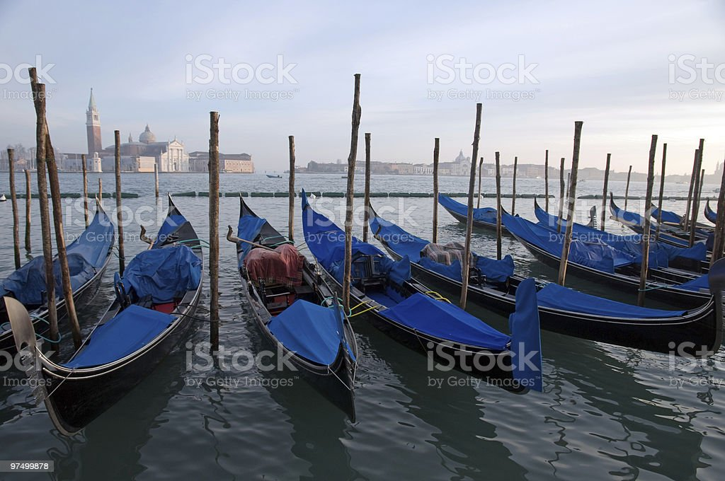 sunset at the grand canal royalty-free stock photo