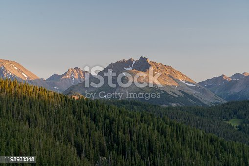 Sunset at the Holy Cross Wilderness in Central Colorado