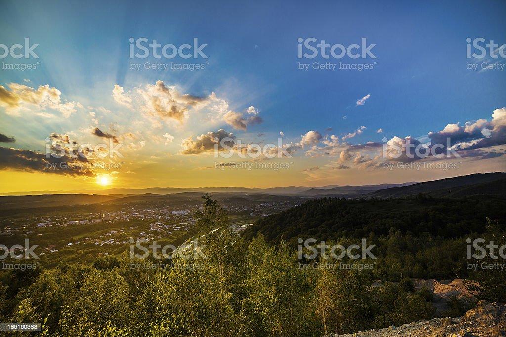 Sunset at the Horizon royalty-free stock photo