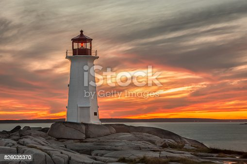While traveling, I visited Peggy's Cove Lighthouse near Halifax, Nova Scotia for a beautiful sunset on the Atlantic Ocean