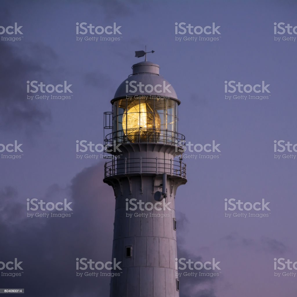 Sunset At The Lighthouse stock photo
